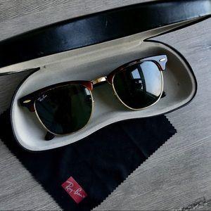 Ray-Ban Clubmaster Tortoise Sunglasses Metal